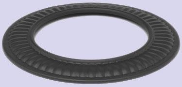 Chimney 73765 7 in. 24-ga Snap-Lock Black Stovepipe Trim Collar by Imperial Manufacturing Group (Trim Stove Pipe Collar)