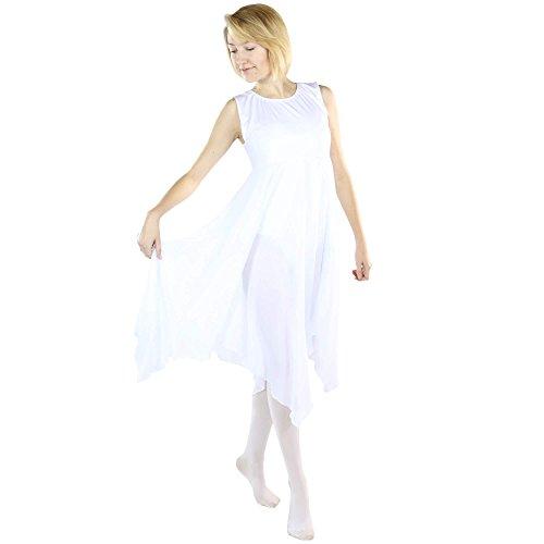 Danzcue Womens Worship Praise Dance Pullover Vest, White, L/XL -