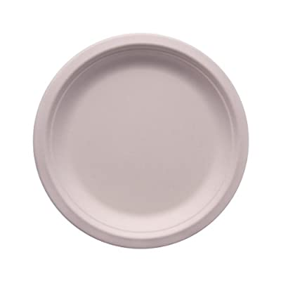 "eco Kloud 7"" inch Bagasse Sugarcane Fiber Plate (Pack of 1000)"