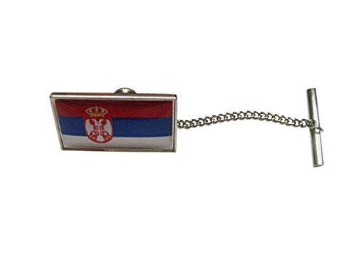 Serbia Flag Tie Tack by Kiola Designs