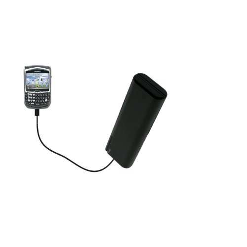 Gomadic Portable AA Battery Pack designed for the Sprint Blackberry 8703e - Powered by 4 X AA Batteries to provide Emergency charge. Built using TipExchange Technology (Blackberry 8703e Travel Charger)