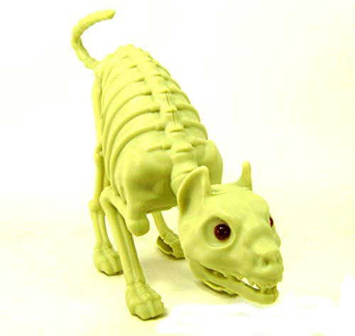 CAT SKELETON Bones Lights Sound Halloween Decor Party Decoration Accessories]()