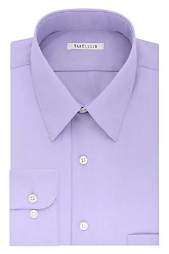 Van Heusen Men's Size FIT Dress Shirt Poplin (Big and Tall), Lavender, 17.5
