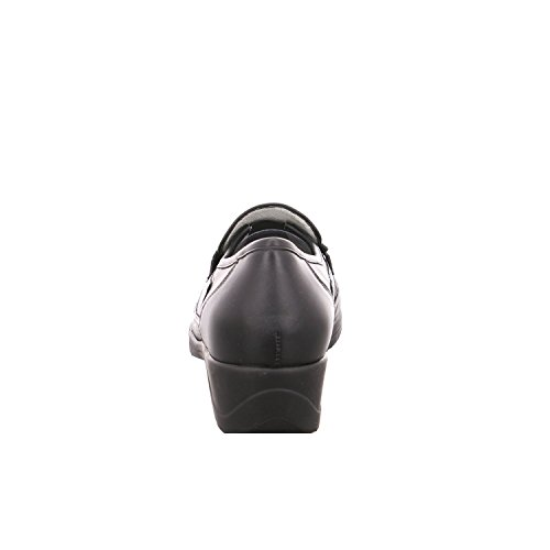 Waldläufer, 442740-186-001, Herta Slipper Damen, Schwarz/schwarz Schwarz