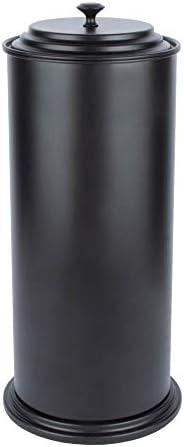 JS Jackson Supplies Free Standing Extra Large Toilet Paper Holder - Matte Black