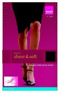 Womens Sheer Moderate Support Pantyhose (Medi Women's Sheer & Soft Moderate Support Standard Thigh Highs, Pair)