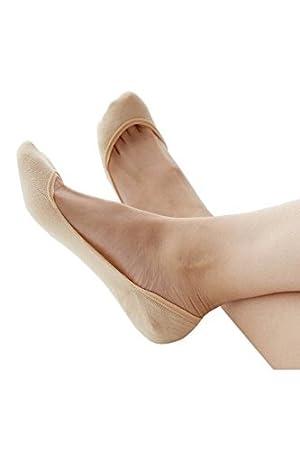 Vococal - 6 Pares Fino Calcetines Cortos Tobilleras de Elástico Antideslizante / Calcetines Invisibles de No Mostrar Corte Bajo de Fibra de Bambú para Mujer ...