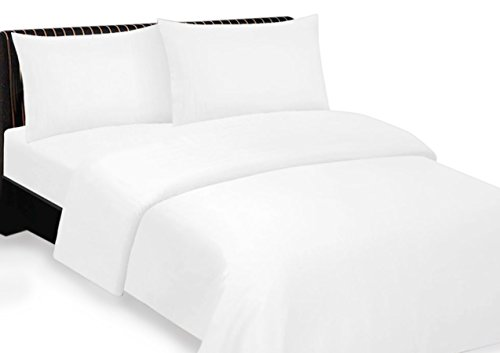Bonne Nuit 400 Thread Count Hotel Collection Luxury Bedding Bed Sheets - Bestseller- Super Sale 100% Cotton Sateen - Wrinkle Resistant Sheet Set-Queen Size Solid White Color