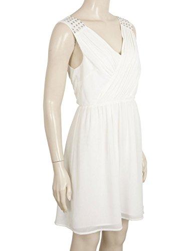 Vila Content Dress - vestido Mujer Blanco