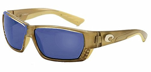 7ff977428e58f Amazon.com  Costa Del Mar Sunglasses - Tuna Alley- Plastic   Frame  Crystal  Bronze Lens  Polarized Blue Mirror 580P Polycarbonate  Clothing