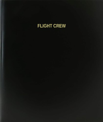 "BookFactory® Flight Crew Log Book / Journal / Logbook - 120 Page, 8.5""x11"", Black Hardbound (XLog-120-7CS-A-L-Black(Flight Crew Log Book))"