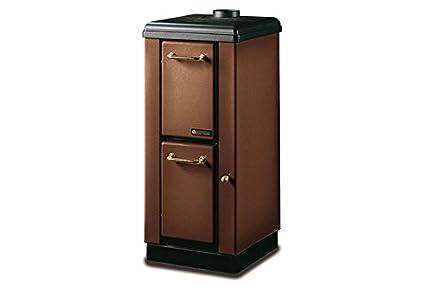 Estufa a leña bruciatutto Nordica Mignon Potencia térmica 4 KW 115 M3 calefactables - Color Marrón: Amazon.es: Bricolaje y herramientas
