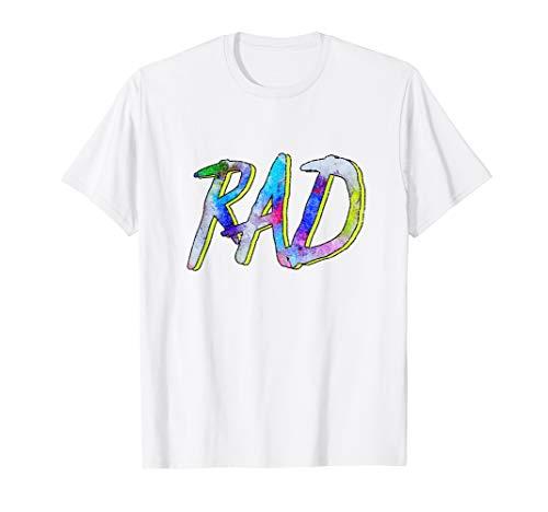 RAD! - 80s Slang Hallowen Costume T-Shirt ()