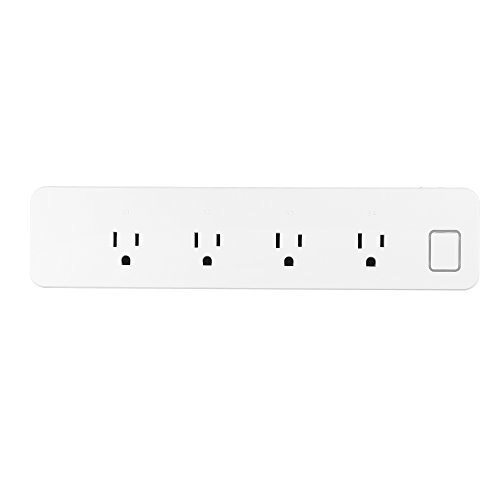 KKmoon smart Wifi Plug Socket WiFi Smart Power Strip 4 Outlets for Multip-Plug Socket Connector Extension Cord, Support Voice Control Works with Home Amazon Alexa etc