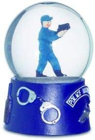 6.5 cm Bric a Breizh Police Snow Globe 8.5 6.5