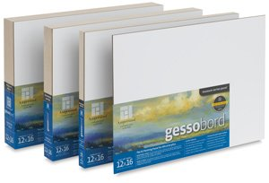"""Gessobord Flat Painting Panel Size: 16"""" H x 20"""" W"""