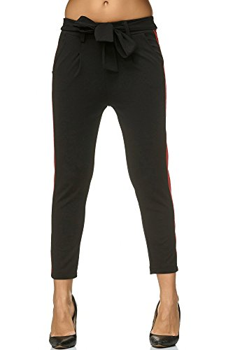 Femme Skinny Noir Pantalon rouge Elara xgSqAHw67
