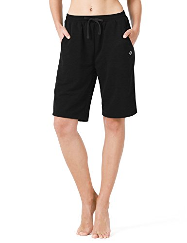 Bermuda Active (Naviskin Women's Active Fitness Yoga Shorts Bermuda Shorts With Big Pockets Black Size L)