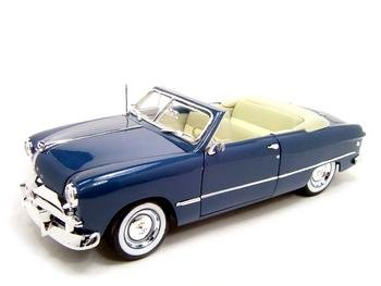 1949 Ford Convertible (1949 FORD CONVERTIBLE BLUE 1:18 DIECAST MODEL)