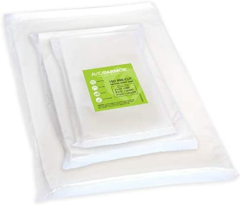 150 Pack Essential Sealfresh Reusable Food Freezer Storage Bags Small 268x279mm