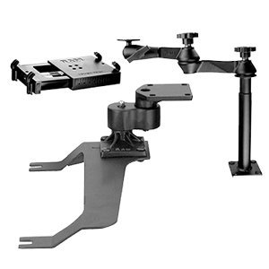 No-Drill(TM) Laptop Mount for the GMC Sierra, Yukon, Chevrolet Silverado, Suburban, 2500, 3500, Avalanche & Hummer H2
