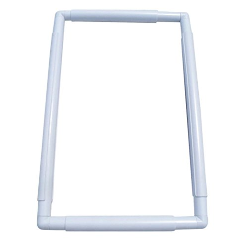 Oldeagle Practical Handhold Square Embroidery Plastic Frame Hoop Cross Stitch Craft DIY Tool (B) (Square Quilting Hoop Hand)