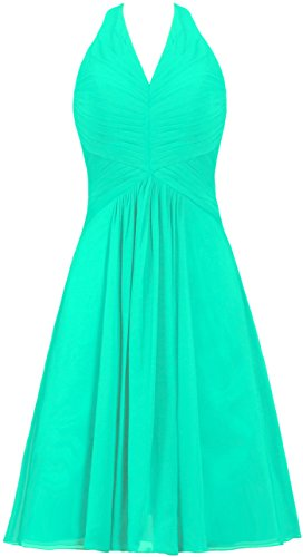 Halter Bridesmaid Women's Dress Chiffon ANTS Dress Homecoming Mint Short qwgnaAOU