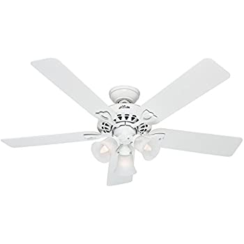 Hunter The Sontera 52 In White Downrod Or Close Mount Indoor Ceiling Fan With Light