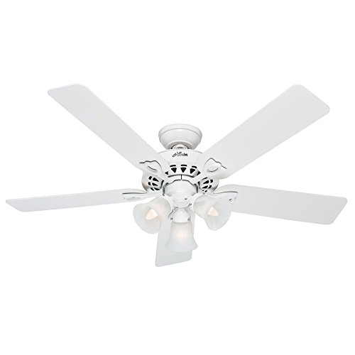 Sontera Three Light (Hunter The Sontera 52-in White Downrod or Close Mount Indoor Ceiling Fan with Light Kit and Remote)