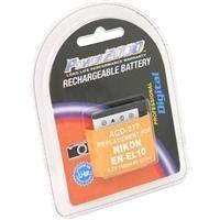En El10 Li Ion Rechargeable Battery - Power 2000 EN-EL10 Replacement Lithium-Ion Rechargeable Battery 3.7v 1000mAh for Select Nikon Digital Cameras