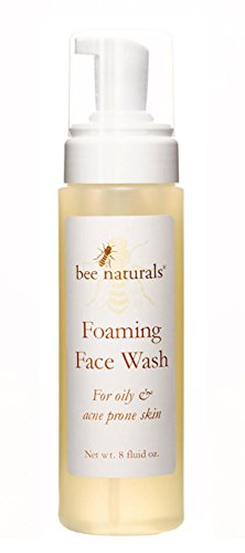 Bee Naturals Self Foaming Face Wash - Light, Foamy Cleanser for Oily & Troubled Skin - Soothes Inflammation - Rose, Grapefruit, Tea Tree and Lavender Essential Oils Plus Feverfew Extract - 8 Fl Oz