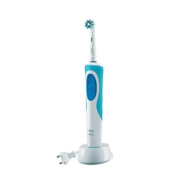 Oral-B Vitality Plus Crossaction - Cepillo de Dientes Eléctrico Recargable con Tecnología Braun, Azul y blanco 4