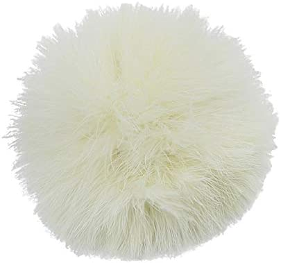 15cm Natural Feather PomPom DIY Handbag Keychain Fluffy Ball Hats Safety Pin