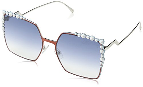 Fendi Women's Square Sunglasses, Rust/Light Blue, One - Fendi Sunglass