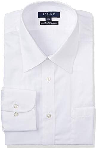形態安定 スリムフィット シロ ブロード レギュラーカラー シャツ 長袖 ビジネス Yシャツ 110214619412810 メンズ 白 日本 M:39-84 (日本サイズM相当)