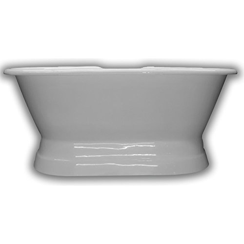 """66"""" Cast Iron Double Ended Pedestal Tub with 7"""" Faucet hole Drillings-""""Worth"""""""