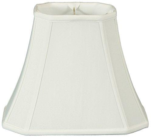 Table Shade Silk Lamp (Royal Designs Rectangle Cut Corner Lamp Shade - White - (5 x 6.5) x (8 x 12) x 10)