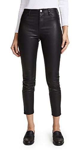 Blank Ladies Leather - [BLANKNYC] Blank Denim Women's The Principle Mid Rise Vegan Leather Skinny Pants, Daddy Soda, 24