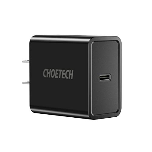 CHOETECH USB C Charger, 18W Power Delivery Type-C Wall Charger Compatible with iPad Pro, iPhone XR, XS, Max, X, 8, Plus, Samsung Galaxy S9/Note 9, Google Pixel 3/Pixel 2, Nintendo Switch, Nexus 5X/6P