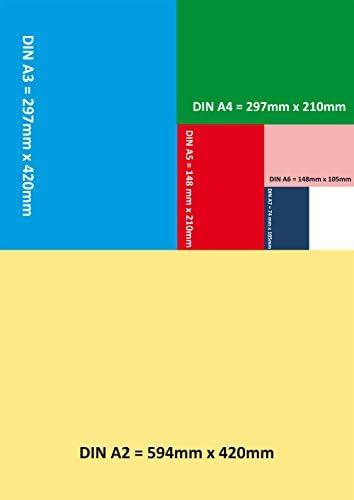 3x Notizblocks negativ kariert in BLAU - Notizen - 50 Blatt, DIN A5, 50 Blatt, Qualitäts-Offset-Papier 80g/m² (22743)