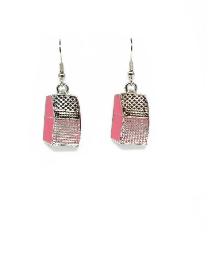 [50's Charm Earrings (Pink Jukebox)] (Fifties Outfit)