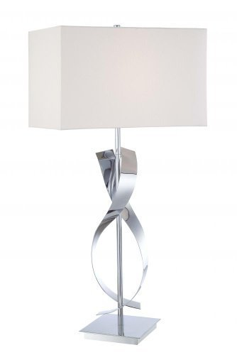 Kovacs P723-077 Energy Smart 1 Light Table Lamp in Chrome by George (077 Kovacs Table Lamp)