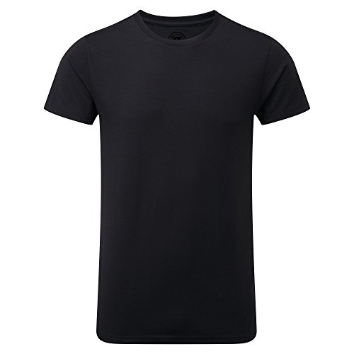 - Russell Mens Slim Fit Short Sleeve T-Shirt (L) (Black)