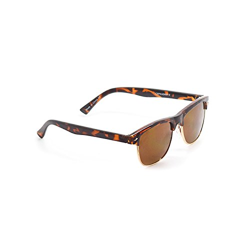 Tortoise Coloured Round Half Frame Childrens Unisex Half Rim Style UV400 Sunglasses