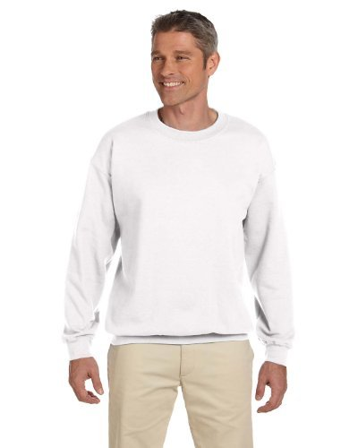 - Hanes Men's Ultimate Cotton Heavyweight Crewneck Sweatshirt_White_XL