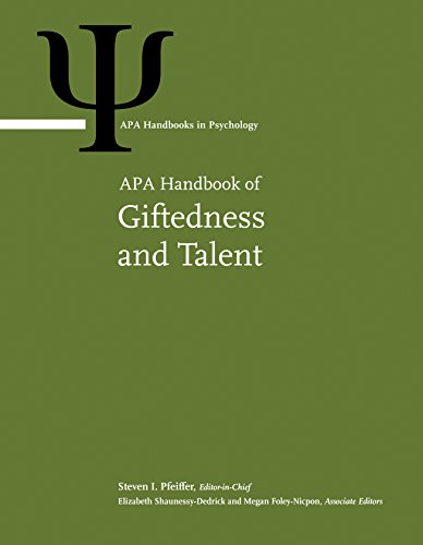 APA Handbook of Giftedness and Talent (APA Handbooks in Psychology®)