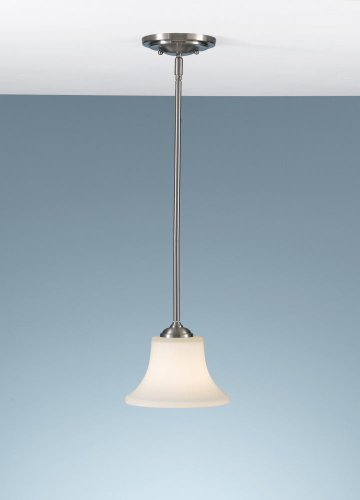 Collection Brushed Steel Finish - Feiss P1117BS Barrington Glass Pendant Lighting, 1-Light, 100watts, Brushed Steel (8