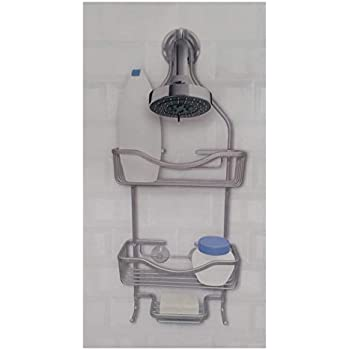 Habitat Aluminum Shower Caddy, Satin Chrome Finish