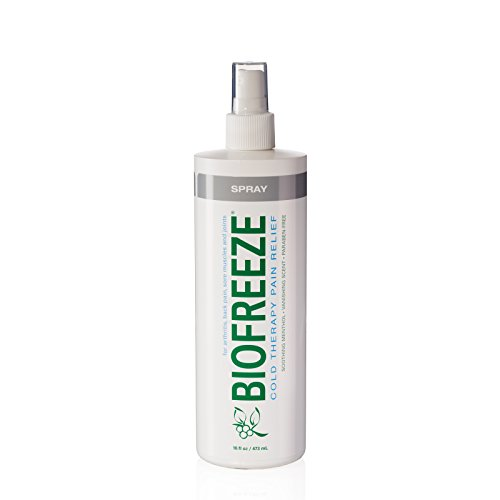 Pump Biofreeze - Biofreeze Pain Relief Spray for Arthritis, 16 oz. Bottle with Pump, Fast Acting Cooling Pain Reliever for Muscle, Joint, & Back Pain, Cold Topical Analgesic with Colorless Formula, 10.5% Menthol