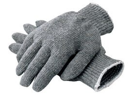 Radnor Glove Ambidextrous String Large Gray Heavy Weight Polyester/Cotton With Knit Wrist -1 Case of 240 Pairs by Radnor (Image #1)